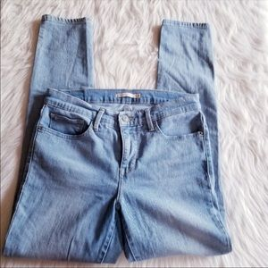 Levi's Jeans Shaping Skinny Light Wash Mid Rise
